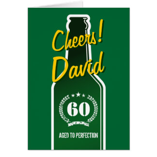 Personalized Birthday card for men | Beer beverage