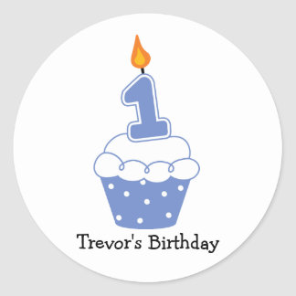 Personalized Birthday Cupcake Stickers