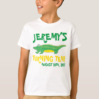 Personalized Birthday Party Favor Gator Alligator T-Shirt