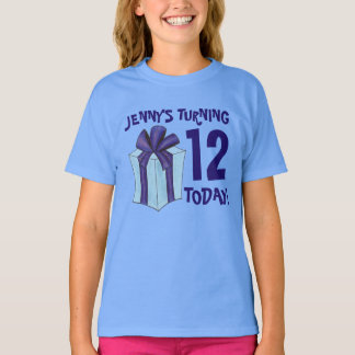 Personalized Birthday Party Favor Present Gift Bow T-Shirt