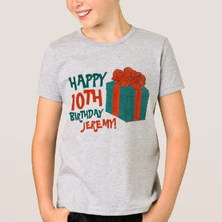 Personalized Birthday Party Favor Present Gift Box T-Shirt