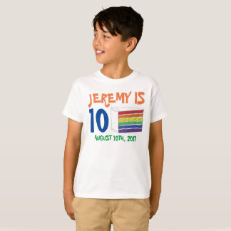 Personalized Birthday Party Favor Rainbow Cake T-Shirt