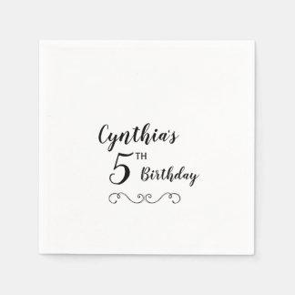 Personalized Birthday Party Napkins Disposable Napkin