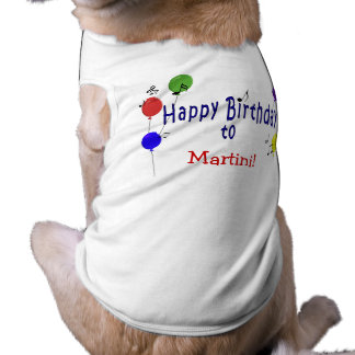 Personalized Birthday Song Doggie Tshirt