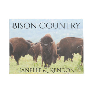 "Personalized ""Bison Country"" Doormat"
