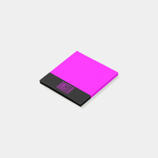 Personalized Black and Fuchsia Post-it Notes
