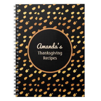 Personalized Black and Gold Monogram Journal