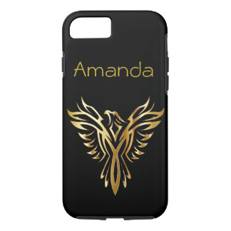 Personalized black and gold Phoenix iPhone 8/7 Case