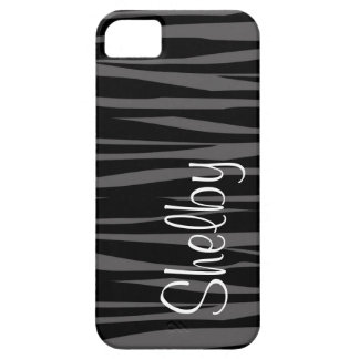Personalized Black and Gray Zebra Print Case For The iPhone 5