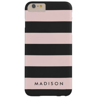 Personalized Black and Pink Stripe iPhone 6+ Case