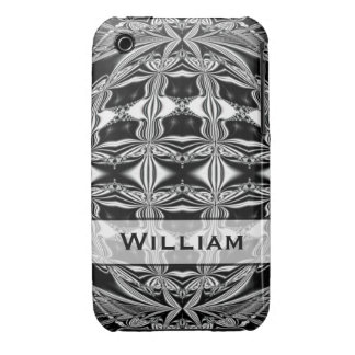 Personalized black and white abstract iPhone 3 Case-Mate cases