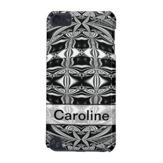 Personalized black and white abstract iPod touch 5G case