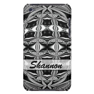 Personalized black and white abstract iPod touch cases