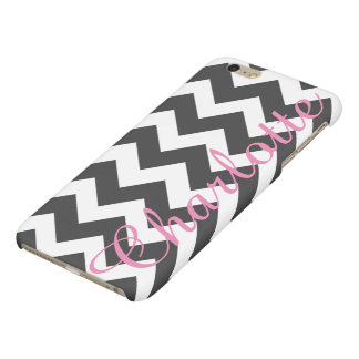 Personalized Black and White Chevron Pattern
