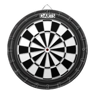 Personalized Black and White Dartboard