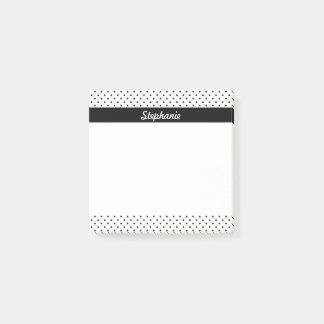 Personalized Black and White Polka Dots Post-it Notes