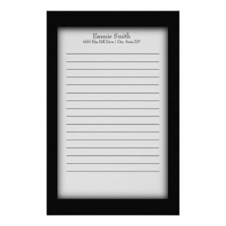 Personalized Black and White Stationery