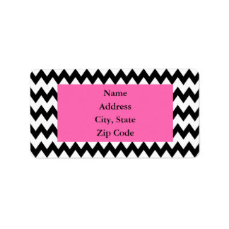 Personalized Black and White Zigzag Label