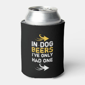 Personalized Black and yellow beer quote Can Cooler