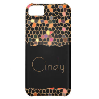 Personalized Black Broken Stained Glass iPhone 5C Case