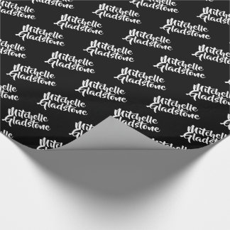 Personalized Black  BTMF Wrapping Paper