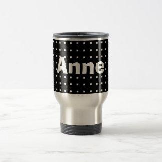 Personalized Black Cool Square Pattern Modern Chic Travel Mug