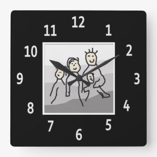Personalized Black Framed Photo Square Wall Clock