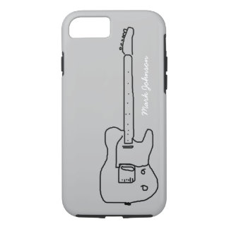 personalized black guitar iPhone 7 case