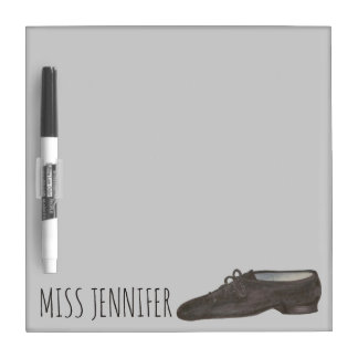Personalized Black Jazz Shoe Dance Teacher Gift Dry Erase Board