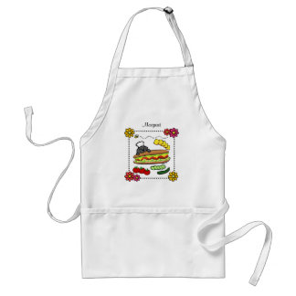 Personalized Black Labrador Bakery Cartoon Standard Apron