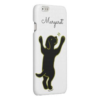 Personalized Black Labrador Hug iPhone Case