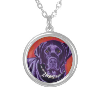 Personalized Black Labrador Thinking Painting Custom Jewelry