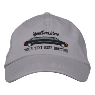 Personalized Black Limousine Driver Embroidery Embroidered Hat