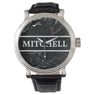 Personalized Black Marble NB Watch