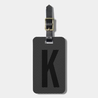 Personalized black monogram travel luggage tags