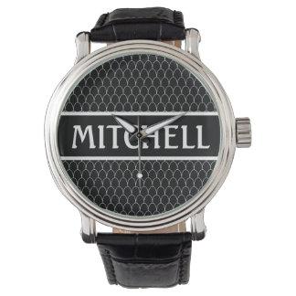 Personalized Black SM Dragon Scale Watch
