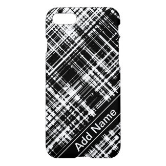 Personalized Black & White Abstract Stripe Pattern iPhone 8/7 Case