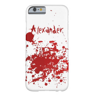 Personalized Blood Spatter Design Barely There iPhone 6 Case