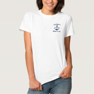 Personalized Blue Anchor Nautical bridal Embroidered Polo Shirt