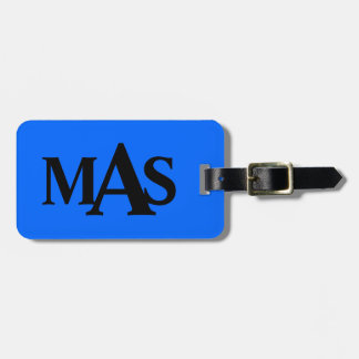 Personalized Blue and Black Luggage Tag