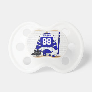 Personalized Blue and White Ice Hockey Jersey Dummy