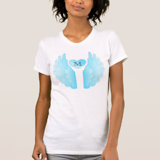 Personalized Blue Angel Wings T-Shirt