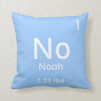 Personalized Blue Baby Boy Element Cushion