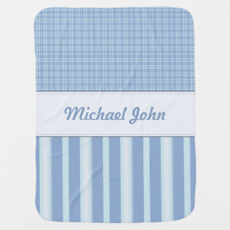 Personalized Blue Baby Nursery Baby Blanket
