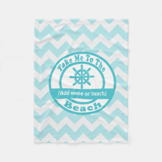 Personalized Blue Beach Blanket