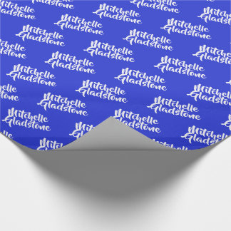 Personalized Blue BTMF Wrapping Paper