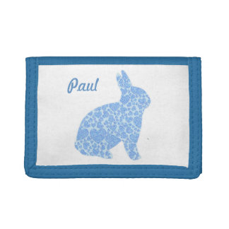 Personalized Blue Bunny Rabbit Wallet