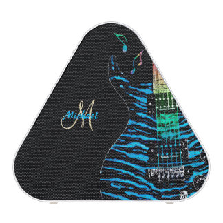 Personalized Blue Electric Guitar Speaker