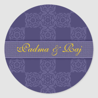 Personalized Blue Envelope Seal Sticker
