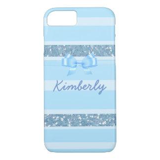 Personalized Blue Glitter Phone Case